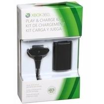 Bateria E Carregador P/ Controle Xbox 360 12000 Mah/35horas