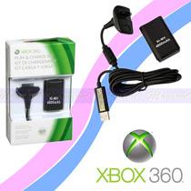 Kit Cabo Carregador + Bateria Recarregável Xbox 360 4800mah