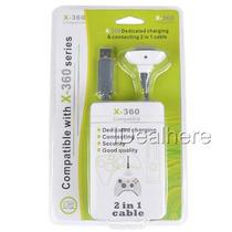 Kit Play E Charge Microsoft Xbox 360 Carregador Controle Pc