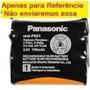 Bateria Telefone Panasonic Kx-tc1468lbb Tc 1468 Lbb 1468lbb