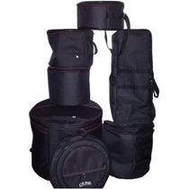 Jogo Bag Bateria Luxo 7 Pç Crbag Capas Estofadas - Dinhos