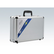 Maleta Aluminio Ferramentas Prata Media C/ Divisoria Moveis