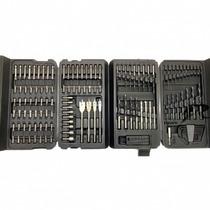 Kit Completo Ferramentas Brocas Black Decker 129 Pçs+ Maleta