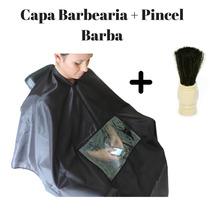 Capa Corte Salao Barbeiro Barbearia C/visor Pincel + Brinde