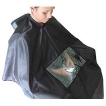 Capa De Corte Cabeleireiro Barbeiro Com Visor