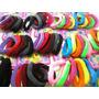 Elásticos Coloridos De Meia P/ Cabelo / Kit C/ 72 Unidades