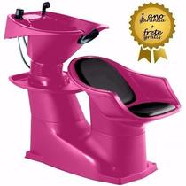 Lavatório Para Cabeleireiro Rosa Pink, Cuba Reclinável Móvel
