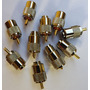 10conectores Macho Uhf P/ Cabo Rg213 C/ Redutor Para Rg058