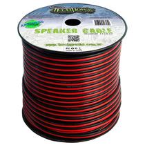 Fio Paralelo Technoise 2x2,50mm Preto E Vermelho Rolo 100 Mt