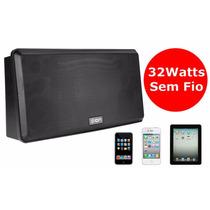 Caixa Acústica Sem Fio 32w Para Ipod Iphone Ipad Ion Anyroom