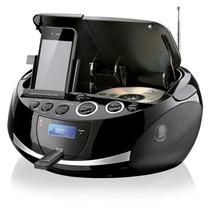 Rádio Am Fm Cd Mp3 Player Dock Station Iphone Ipod Usb Sd