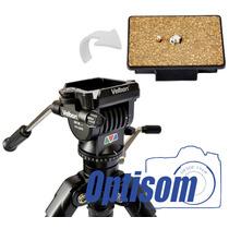 Engate Rápido Para Velbon C600, Dv7000, Cx686 E Videomate607