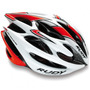 Capacete Rudy Project Sterling Branco/vermelho Fluo - Tam: M