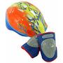 Kit Proteção Infantil Schwinn Capacete +joelheira Bike Skate