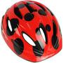 Capacete Ciclista Kids Infantil Vermelho Com Preto