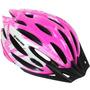 Capacete Ciclista Tamanho M 56-58 Cor Branco Com Rosa