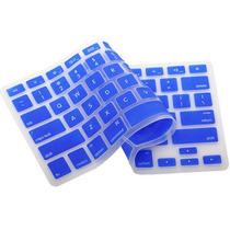 Capa De Silicone Protetor De Teclado Apple Macbook Mac Azul