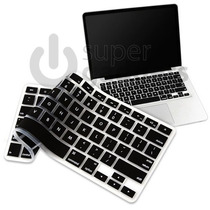 Capa Película De Silicone Teclado Macbook Pro Air - Preta