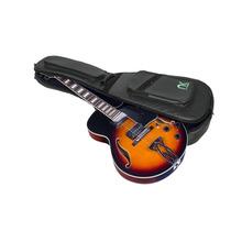 Bag Guitarra Semi Acústica Couro Reconstituído Preto - Ne...