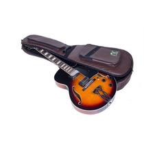 Bag Guitarra Semi Acústica Couro Reconstituído Marrom - N...