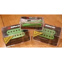 Set Captadores Dimarzio Evolution Steve Vai Verde Ou Branco