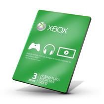 Xbox Live Gold - Cartão De 3 Meses - Xbox One / 360