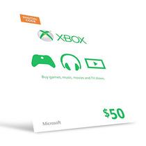 Microsoft Gift Card Cartão Xbox $50 Dólares -preço Imbativel