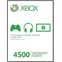 4500 Microsoft Points Para Xbox Live Brasil - Pronta Entrega