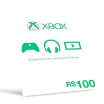 Microsoft Gift Card Cartão Xbox R$100 Reais -preço Imbatível