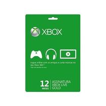 Cartão Live Gold 12 Meses / 1 Ano - Xbox 360 E Xbox One