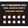 Jogo 10 Miniadesivos Iphone Maçã Apple Vinil Adesivo Branco
