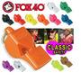 Apito Fox 40 Classic Preto C/ Cordão - Sem Blister - Oficial
