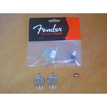 Kit Para Guitarra Telecaster Chave Fender + 2 Pots Cts -novo