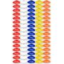 80 Cones Half Prato Demarcação Chinesinho Circuito Agilidade