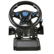 Volante Joystick Pedal Multilaser Racer 3x1 Para Ps2 Ps3 Pc