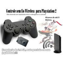 Controle Sem Fio Wireless Para Playstation 2 Ps2
