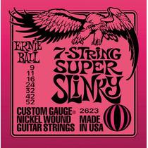 Encordoamento Ernie Ball 2623 Super Slinky 0.09 7 Cordas