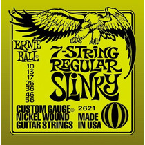 Encordoamento Ernie Ball 2621 Regular Slinky 0.10 7 Cordas