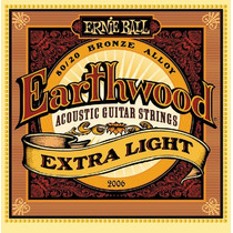 Encordoamento Para Violão 010 Ernie Ball Earthwood 2006