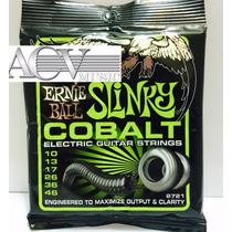 Set De Cordas Ernie Ball Slinky Cobalt 0.10 Menor Preço!