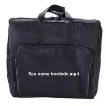 Capa Bag Para Acordeon 120 Baixos Vivo Preto Bordado