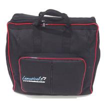 Capa Bag Para Acordeon 80 Baixos Master Luxo Vivo Vermelho