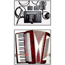Microfone Para Acordeon Duplo 1 No Solo E 1 Nos Baixos-novo