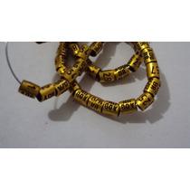 10 Anilhas P Canarios 3,0mm Douradas Ano 2016 Frete Grátis