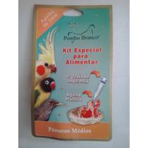 Kit Especial Para Alimentar Pássaros 10 Ml - Pombo Branco