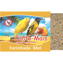 Alimento Ração Farinhada Mel Para Pássaros Canta Mais 3kg