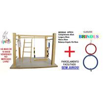 Kit Standard Calopsita Feliz Playground Natural + Brinquedo