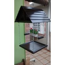 Comedouro / Casa Para Pássaros 25cm X 25cm