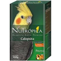 Ração Calopsita Frutas Mel Cereais Nutrópica Premium 300 Gr
