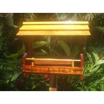 Comedouro Para Pássaros - Com Suporte Para Pedestal